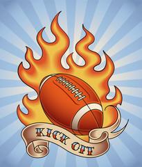 American football tattoo