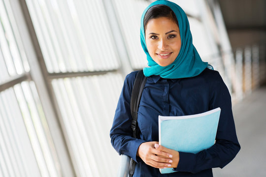modern female middle eastern college student