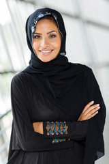 middle eastern woman with arms crossed
