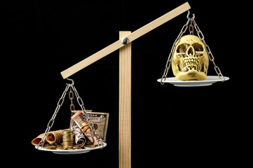 Skull and Money