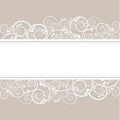 Hintergrund mit Ornamenten und Textfreiraum in beige