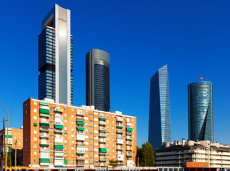 View of Madrid with  Four Towers Business Area