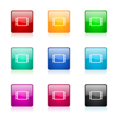 movie vector icons colorful set