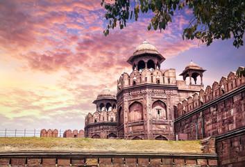 Stores à enrouleur Delhi Red fort in India