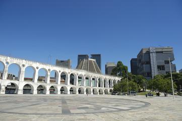 White Arches at Arcos da Lapa Centro Rio de Janeiro Brazil