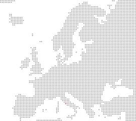 Pixelkarte Europa: Rom liegt hier