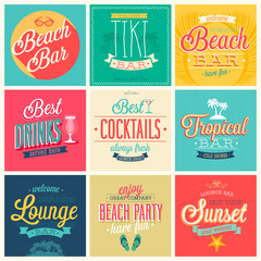 Wall Mural - Beach Bar set