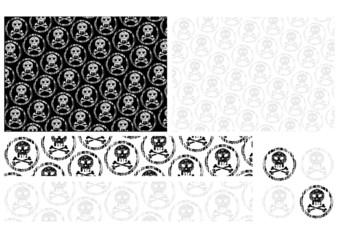Obraz trip black background skull - fototapety do salonu