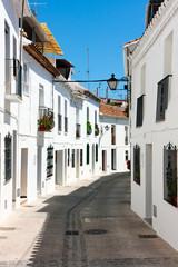 Streets of Mijas Pueblo in Spain