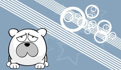 polar ball bear cartoo wallpaper vector