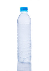 cool drinking water in plastic  bottle