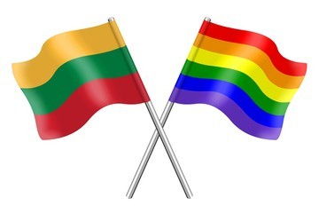 Flags : Lithuania and rainbow