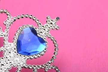 Toy tiara with blue gem
