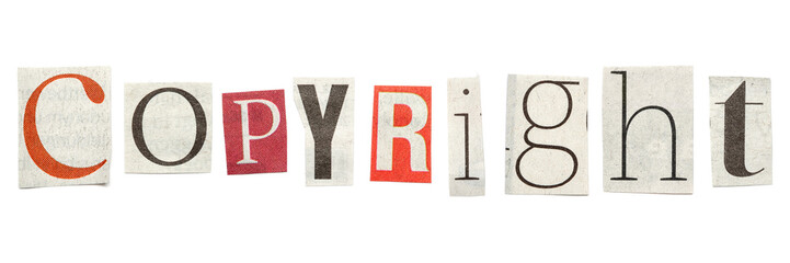 Copyright, Cutout Newspaper Letters
