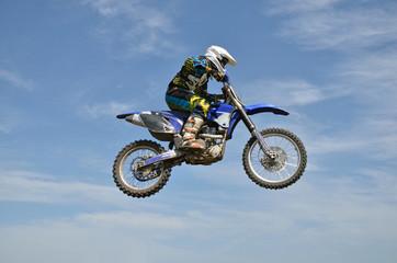 X games motocross rider on motorbike efficient flight