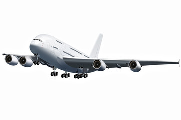 Großraumflugzeug, Jumbo Jet, Flugzeug, freigestellt