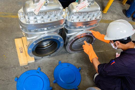 Liquid Penetrant Testing on valve