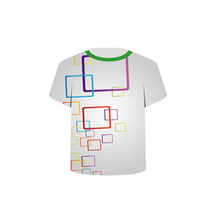 T Shirt Template-colorful blocks