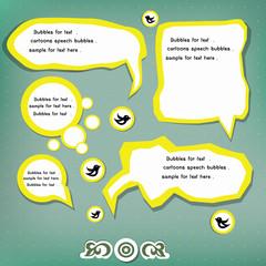 Blank speech bubbles,for text,vector