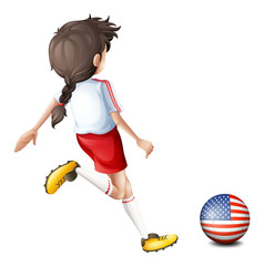 A female soccer player from the United States