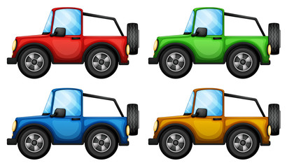 Four colorful jeepneys