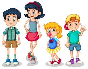 Four siblings