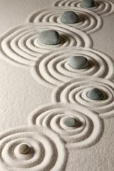 Garden Poster Stones in Sand Zen stones