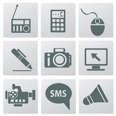 Technology icon set,vector