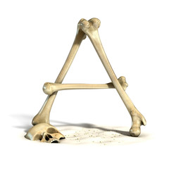 bones font letter A