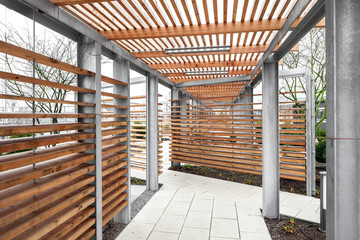 Dachterrasse Metall Holz Konstruktion