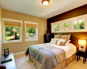 Contrast wall cozy bedroom