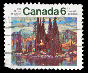 Stamp printed by Canada, shows Isle of Spruce, circa 1970