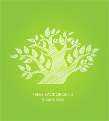 Ecology background,tree pattern