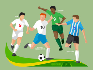 Soccer Players 2014 Group F
