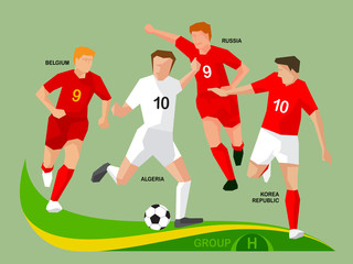 Soccer Players 2014 Group H