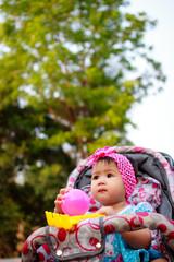 child in the stroller