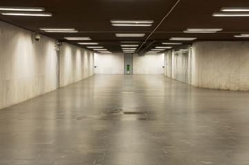 Wide empty underpass