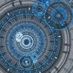 Cool fractal circle background