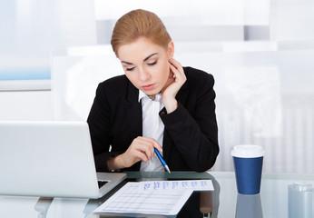 Businesswoman Looking At Calendar