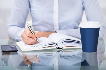 Fototapete - Businessperson Working At Desk