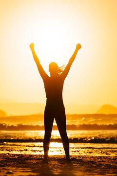 Fitness woman success