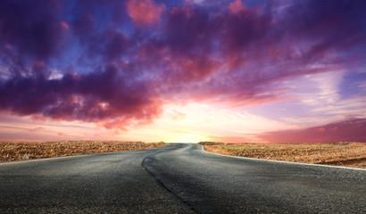 spettacolare alba nel deserto Fotomurales