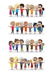 Happy Peoples - Isolated On White Background