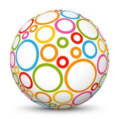 Kugel, Muster, abstrakt, 3D, blanko, Deko, Sphere, Ball, Pattern