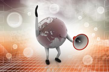 Globe with loudspeaker