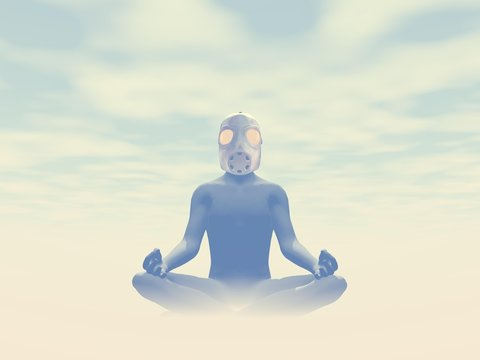 Toxicity meditation - 3D render