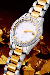 Silver and gold exclusive watch