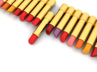 Lippenstift in verschiedenen Farben