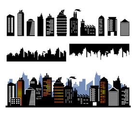 Vector city buildings