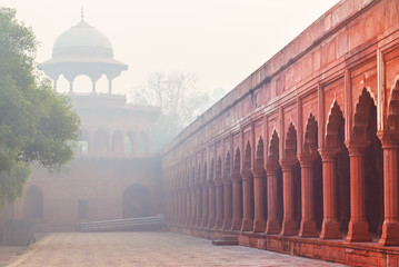 Architecture of Charbagh, or Mughal Garden in Agra, India Fototapete